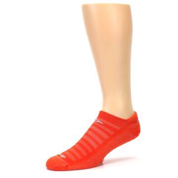 Image of Orange Solid Men's No-Show Tab Athletic Socks (side-2-09)