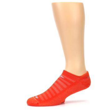 Image of Orange Solid Men's No-Show Tab Athletic Socks (side-2-10)