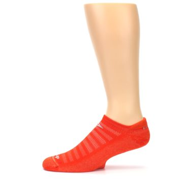 Image of Orange Solid Men's No-Show Tab Athletic Socks (side-2-11)