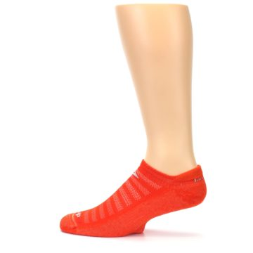 Image of Orange Solid Men's No-Show Tab Athletic Socks (side-2-12)