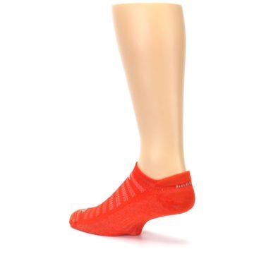 Image of Orange Solid Men's No-Show Tab Athletic Socks (side-2-back-14)
