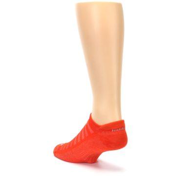 Image of Orange Solid Men's No-Show Tab Athletic Socks (side-2-back-15)