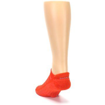Image of Orange Solid Men's No-Show Tab Athletic Socks (side-2-back-16)
