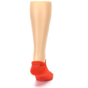 Image of Orange Solid Men's No-Show Tab Athletic Socks (back-19)