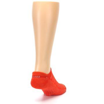 Image of Orange Solid Men's No-Show Tab Athletic Socks (side-1-back-20)