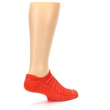 Image of Orange Solid Men's No-Show Tab Athletic Socks (side-1-back-22)
