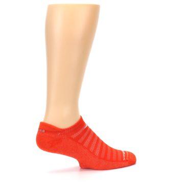 Image of Orange Solid Men's No-Show Tab Athletic Socks (side-1-23)