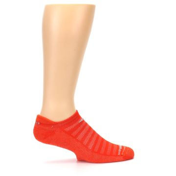 Image of Orange Solid Men's No-Show Tab Athletic Socks (side-1-24)