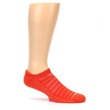 Image of Orange Solid Men's No-Show Tab Athletic Socks (side-1-25)