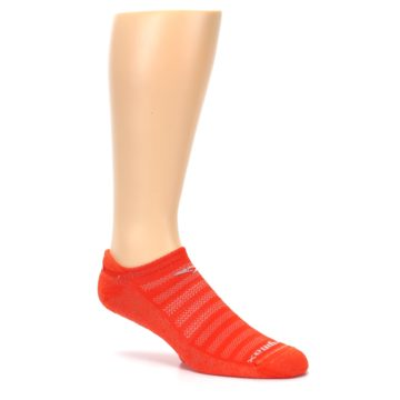 Image of Orange Solid Men's No-Show Tab Athletic Socks (side-1-26)