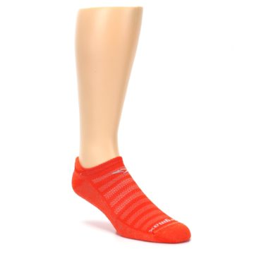 Image of Orange Solid Men's No-Show Tab Athletic Socks (side-1-27)
