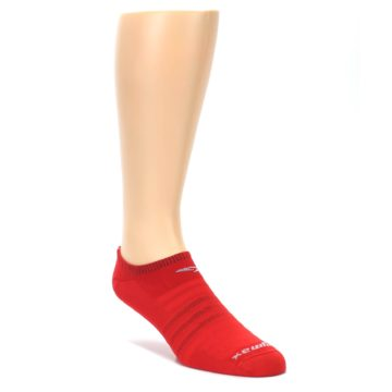 LARGE-Red-Solid-Mens-No-Show-Athletic-Socks-Drymax