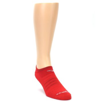Image of Red Solid Men's No-Show Athletic Socks (side-1-front-02)