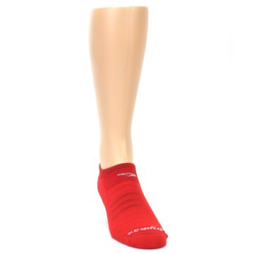 Image of Red Solid Men's No-Show Athletic Socks (side-1-front-03)
