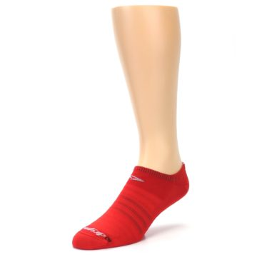 Image of Red Solid Men's No-Show Athletic Socks (side-2-front-08)