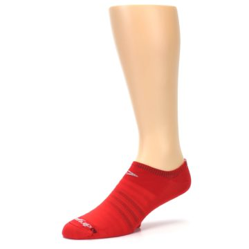 Image of Red Solid Men's No-Show Athletic Socks (side-2-09)