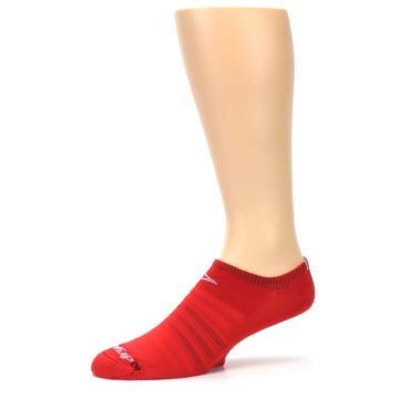 Image of Red Solid Men's No-Show Athletic Socks (side-2-10)