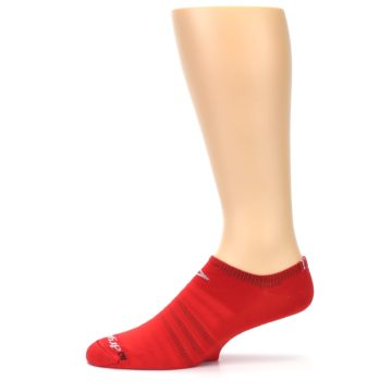 Image of Red Solid Men's No-Show Athletic Socks (side-2-11)