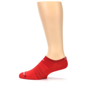 Image of Red Solid Men's No-Show Athletic Socks (side-2-12)