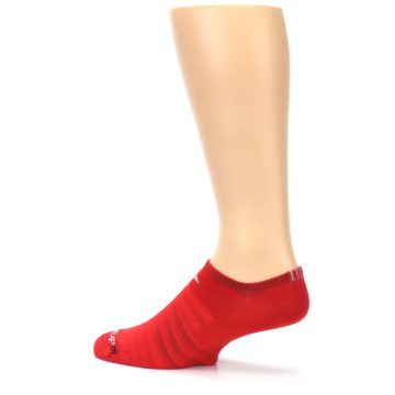 Image of Red Solid Men's No-Show Athletic Socks (side-2-13)