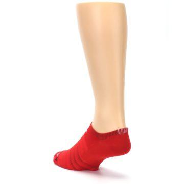 Image of Red Solid Men's No-Show Athletic Socks (side-2-back-15)