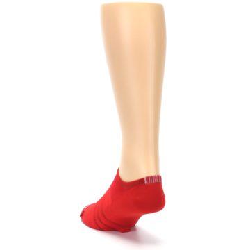 Image of Red Solid Men's No-Show Athletic Socks (side-2-back-16)