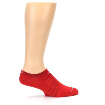 Image of Red Solid Men's No-Show Athletic Socks (side-1-24)
