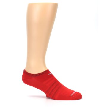 Image of Red Solid Men's No-Show Athletic Socks (side-1-25)