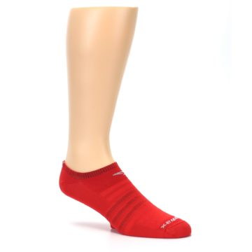 Image of Red Solid Men's No-Show Athletic Socks (side-1-26)
