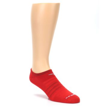 Image of Red Solid Men's No-Show Athletic Socks (side-1-27)