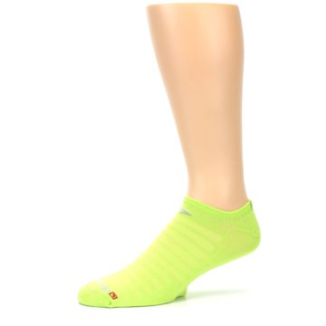 Image of Lime Green Solid Men's No-Show Athletic Socks (side-2-10)