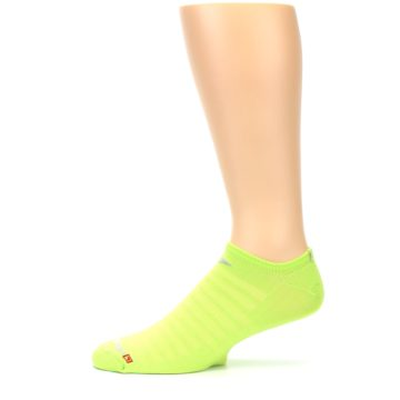 Image of Lime Green Solid Men's No-Show Athletic Socks (side-2-11)