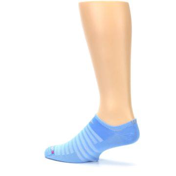 Image of Sky Blue Solid Men's No-Show Athletic Socks (side-2-13)
