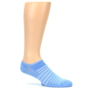 Image of Sky Blue Solid Men's No-Show Athletic Socks (side-1-25)