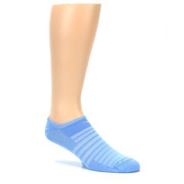 Image of Sky Blue Solid Men's No-Show Athletic Socks (side-1-26)