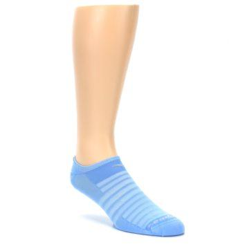 Image of Sky Blue Solid Men's No-Show Athletic Socks (side-1-27)