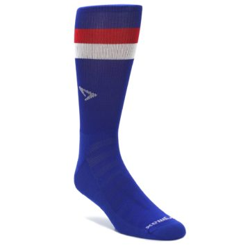 Drymax Red White Blue Stripe Crew Socks for Men
