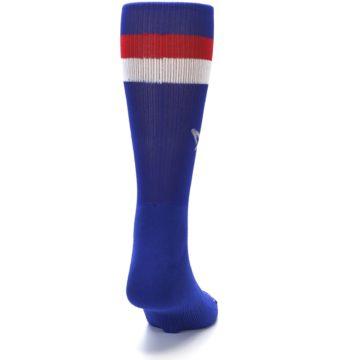 Image of Blue Red Stripe Men's Athletic Crew Socks (back-19)