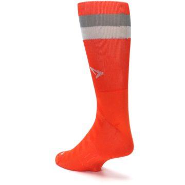 Image of Orange Gray Stripe Men's Athletic Crew Socks (side-2-back-15)