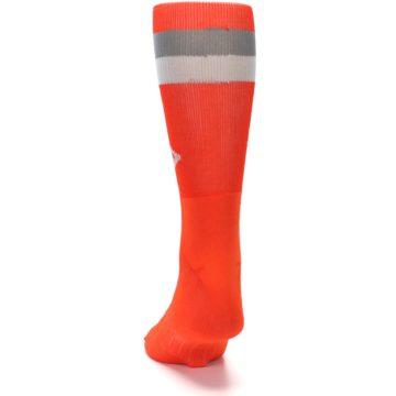 Image of Orange Gray Stripe Men's Athletic Crew Socks (back-17)