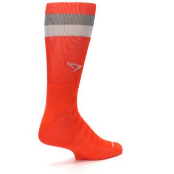 Image of Orange Gray Stripe Men's Athletic Crew Socks (side-1-back-22)