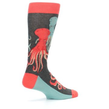 Image of Red Blue Octopus Men's Dress Socks (side-1-23)