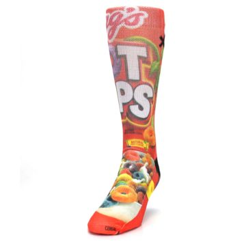 Image of Red Kellogg's Froot Loops Men's Casual Socks (side-2-front-06)