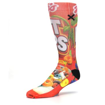 Image of Red Kellogg's Froot Loops Men's Casual Socks (side-2-09)