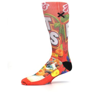 Image of Red Kellogg's Froot Loops Men's Casual Socks (side-2-10)