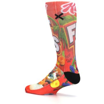 Image of Red Kellogg's Froot Loops Men's Casual Socks (side-2-13)