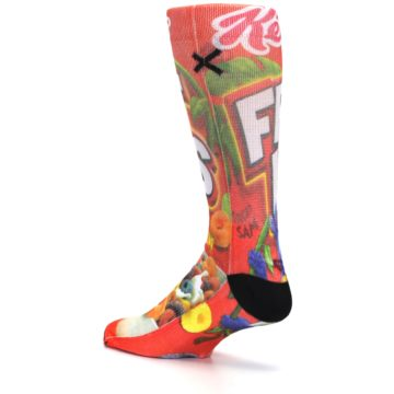 Image of Red Kellogg's Froot Loops Men's Casual Socks (side-2-back-14)