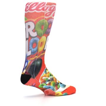 Image of Red Kellogg's Froot Loops Men's Casual Socks (side-1-23)