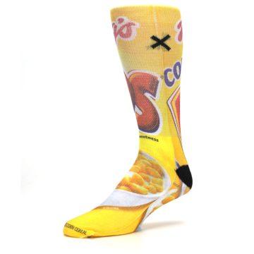 Image of Yellow Kellogg's Corn Pops Men's Casual Socks (side-2-09)
