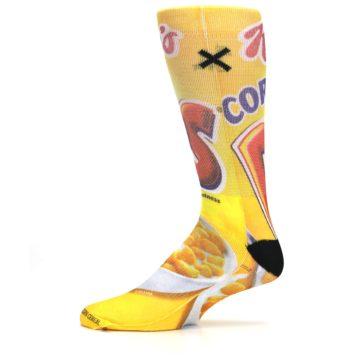 Image of Yellow Kellogg's Corn Pops Men's Casual Socks (side-2-11)